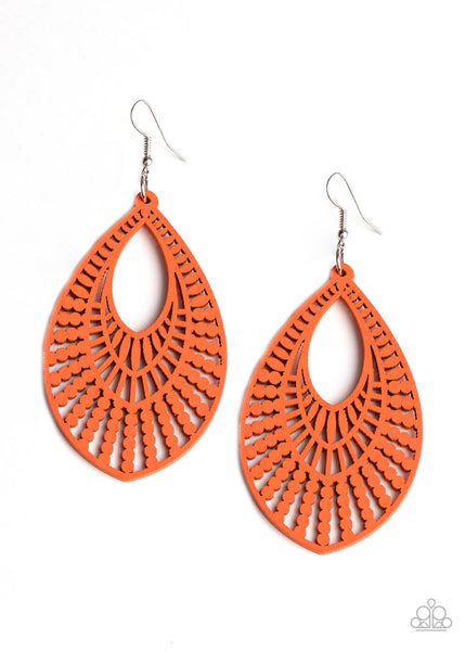 Paparazzi Bermuda Breeze - Orange Earrings - Princess Glam Shop