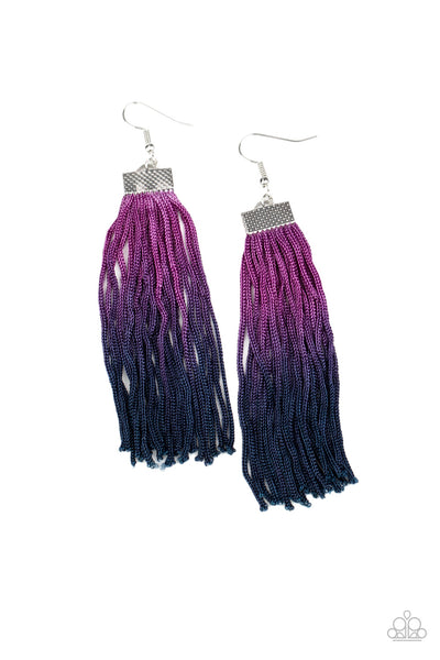 Paparazzi Dual Immersion - Purple Ombre Earrings - Princess Glam Shop
