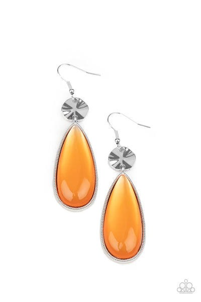 Paparazzi Jaw-Dropping Drama - Orange Earrings - Princess Glam Shop