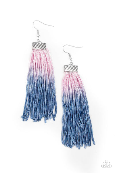 Paparazzi Dual Immersion - Pink & Blue Ombre Earrings - Princess Glam Shop