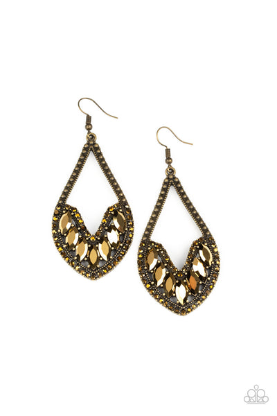 Paparazzi Ethereal Expressions - Brass Earrings - Princess Glam Shop