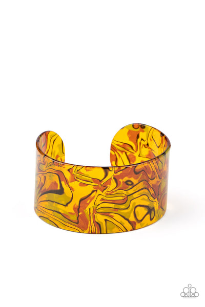 Paparazzi Cosmic Couture - Orange Cuff Bracelet - Princess Glam Shop