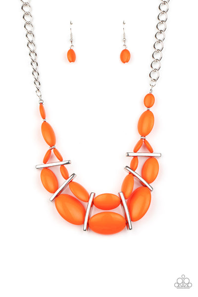 Paparazzi Law of the Jungle - Orange Necklace Set - Princess Glam Shop