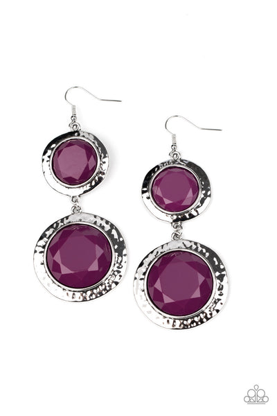 Paparazzi Thrift Shop Stop - Purple Earrings - Princess Glam Shop