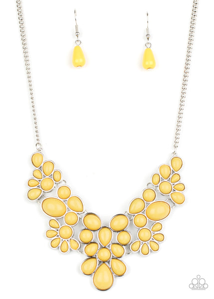 Paparazzi Bohemian Banquet - Yellow Necklace Set - Princess Glam Shop