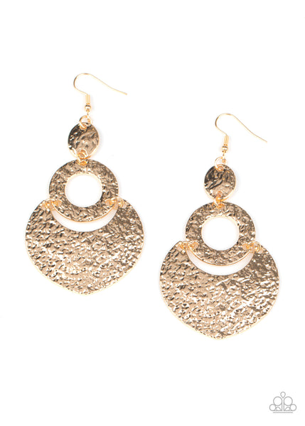 Paparazzi Shimmer Suite - Gold Earrings - Princess Glam Shop
