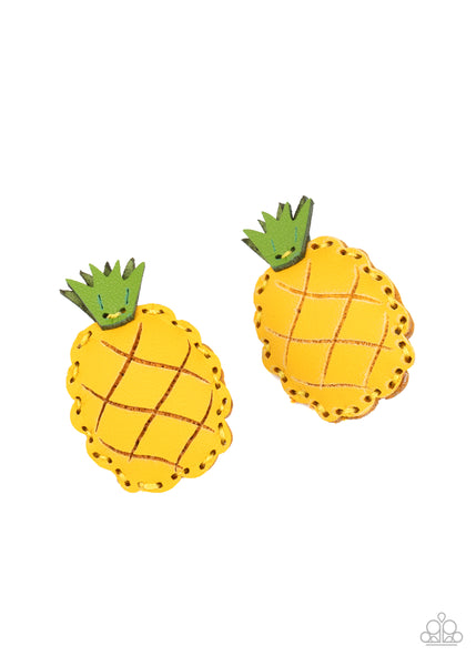 Paparazzi PINEAPPLE Of My Eye - Yellow Hair Clips - Princess Glam Shop