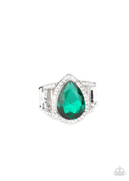 Paparazzi BLINGing Down The House - Green Ring - Princess Glam Shop