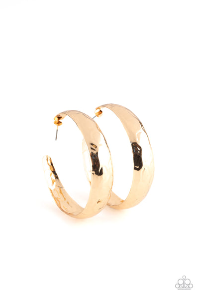 Paparazzi Hey, HAUTE-Shot - Gold Hoop Earrings - Princess Glam Shop