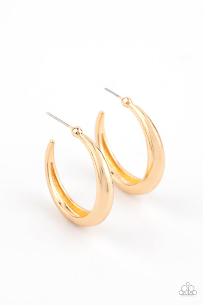 Paparazzi Lay It On Thick - Gold Hoop Earrings - Princess Glam Shop