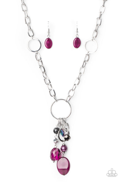 Paparazzi Lay Down Your CHARMS - Purple Necklace Set - Princess Glam Shop