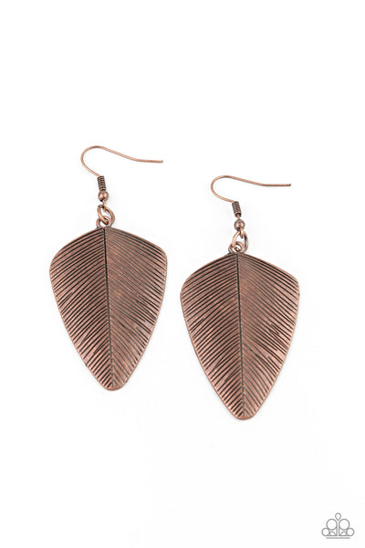 Paparazzi One Of The Flock - Copper Earrings - Princess Glam Shop