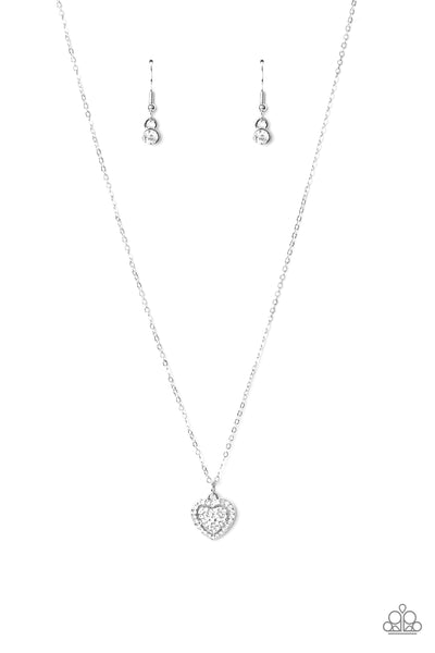 Paparazzi My Heart Goes Out To You - White Necklace Set - Princess Glam Shop