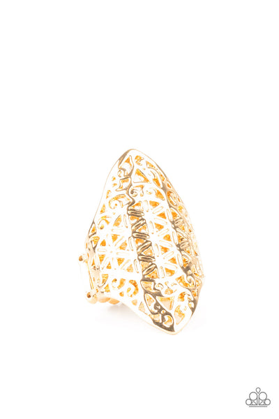 FRILL Ride - Gold Ring - Princess Glam Shop