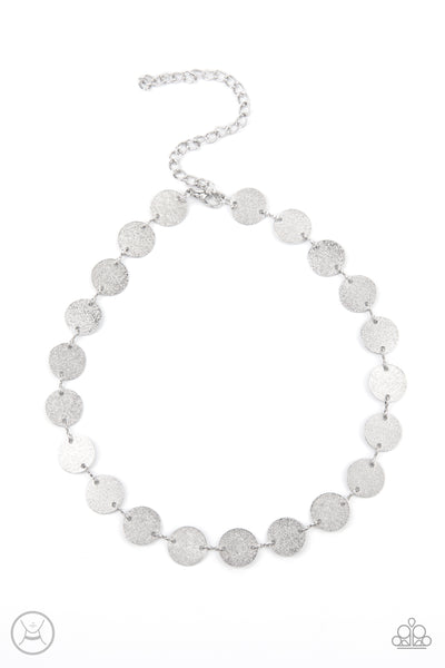 Paparazzi Reflection Detection - Silver Choker Necklace Set - Princess Glam Shop