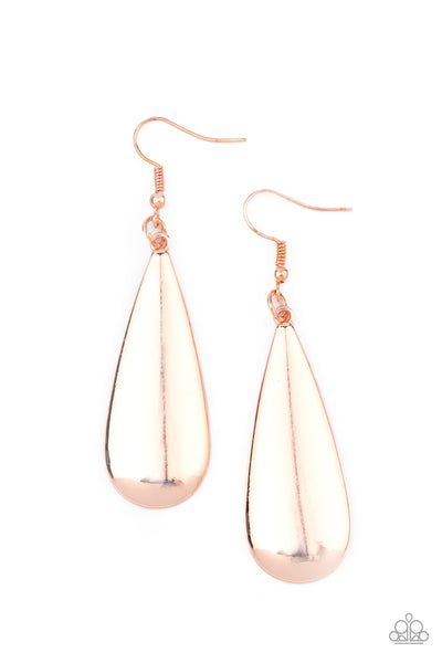 Paparazzi The Drop Off - Rose Gold Earrings - Princess Glam Shop