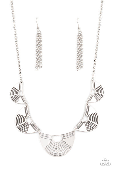Paparazzi Record-Breaking Radiance - Silver Necklace Set - Princess Glam Shop