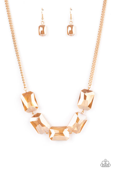 Paparazzi Heard It On The HEIR-Waves - Gold Necklace Set - Princess Glam Shop