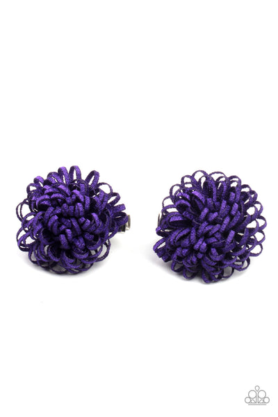 Paparazzi Pretty in Posy - Purple Hair Clips - Princess Glam Shop
