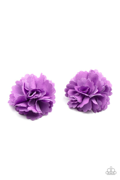 Paparazzi Never Let Me GROW - Purple Hair Bows - Princess Glam Shop
