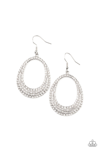 Paparazzi Life GLOWS On - White Earrings - Princess Glam Shop