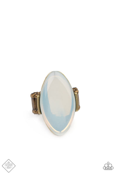 Pre Order! Paparazzi Opal Odyssey Brass Ring May 2021 Fashion Fix Exclusive - Princess Glam Shop