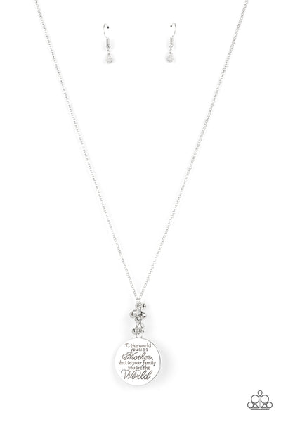 Paparazzi Maternal Blessings - White Necklace Set - Princess Glam Shop