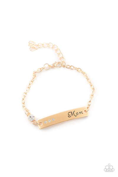 Mom Always Knows - Gold Bracelet - Princess Glam Shop