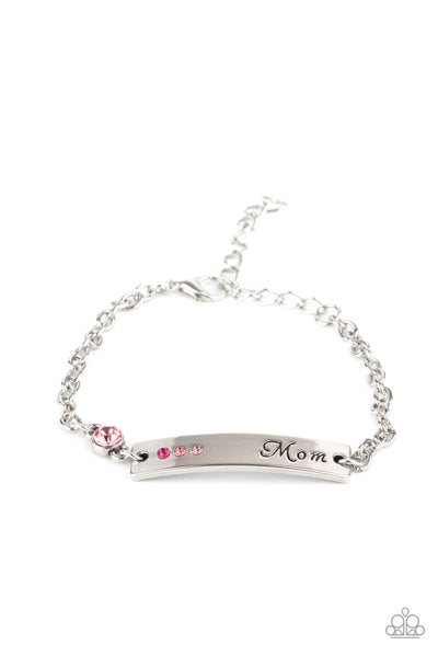 Mom Always Knows - Pink Bracelet - Princess Glam Shop