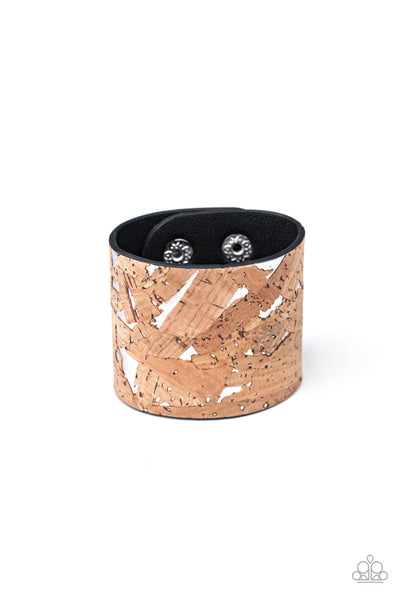 Paparazzi Cork Congo - Silver Bracelet - Princess Glam Shop