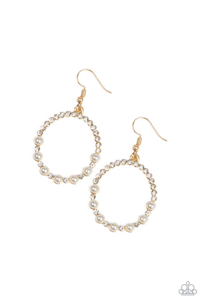 Paparazzi Glowing Grandeur - Gold Earrings - Princess Glam Shop