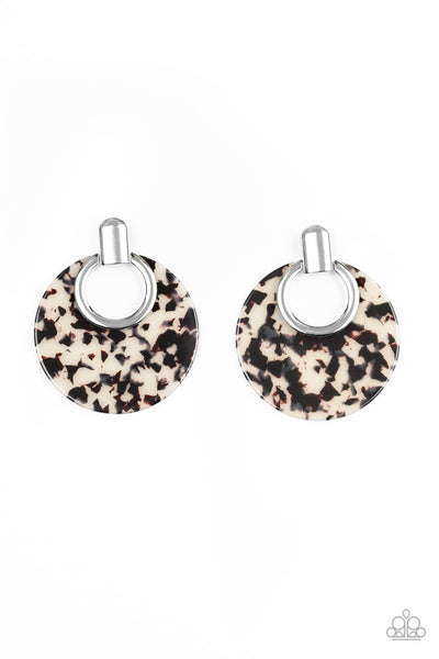 Paparazzi Metro Zoo - White Earrings - Princess Glam Shop