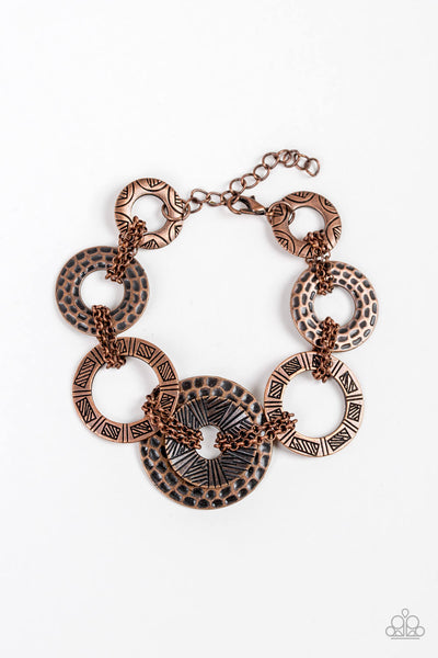 Paparazzi Way Wild - Copper Bracelet - Princess Glam Shop