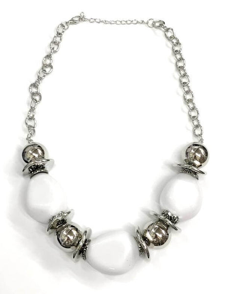 Paparazzi Vivid Vibes - White Necklace Set - Princess Glam Shop
