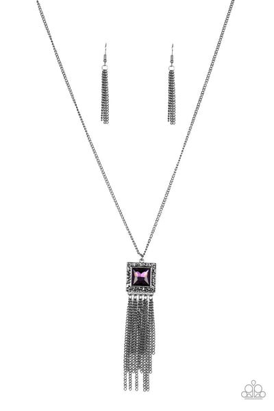 Paparazzi Shimmer Sensei - Purple Necklace Set - Princess Glam Shop