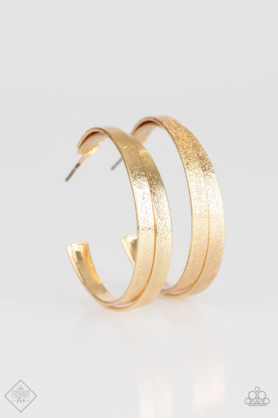 Paparazzi High-Class Shine Crisscross Gold Hoop Earrings - Princess Glam Shop
