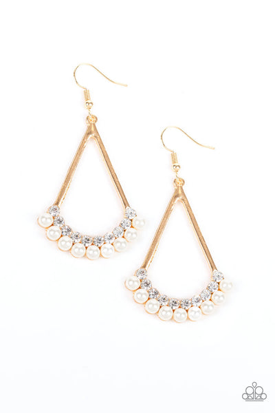 Paparazzi Top to Bottom - Gold Earrings - Princess Glam Shop