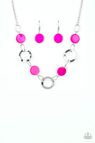 SOLD OUT Paparazzi Bermuda Horizon - Pink Necklace - Princess Glam Shop
