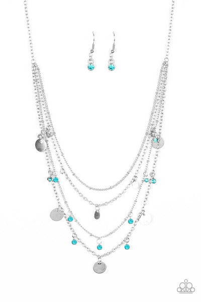 Paparazzi Classic Class Act - Blue Necklace Set - Princess Glam Shop