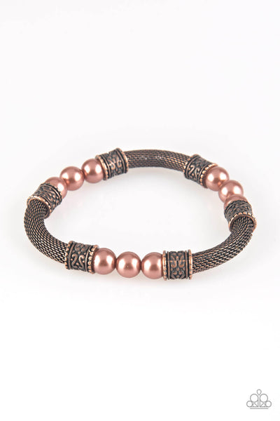 Paparazzi Talk Some SENSEI - Copper Bracelet - Princess Glam Shop