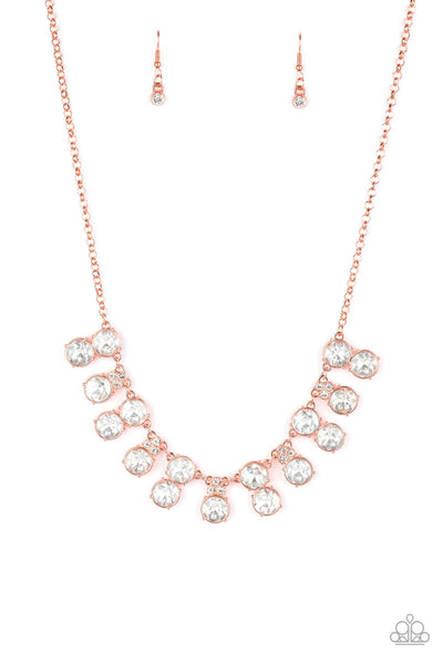 Paparazzi Top Dollar Twinkle Copper Necklace Set - Princess Glam Shop