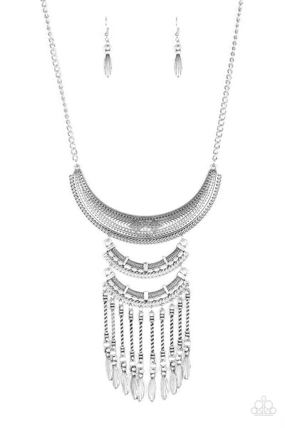 Paparazzi Eastern Empress - Silver Necklace Set - Princess Glam Shop