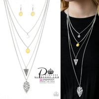 Paparazzi Grounded In ARTIFACT - Yellow Necklace Set - Princess Glam Shop