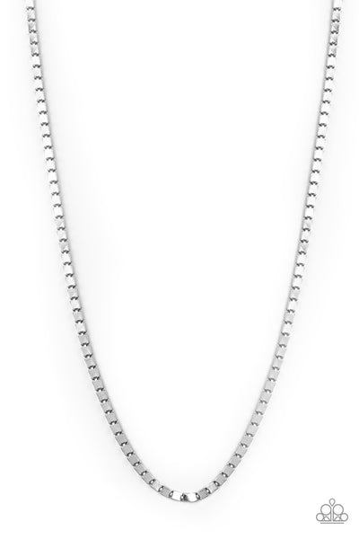 Paparazzi Boxed In - Silver Men's Necklace - Princess Glam Shop