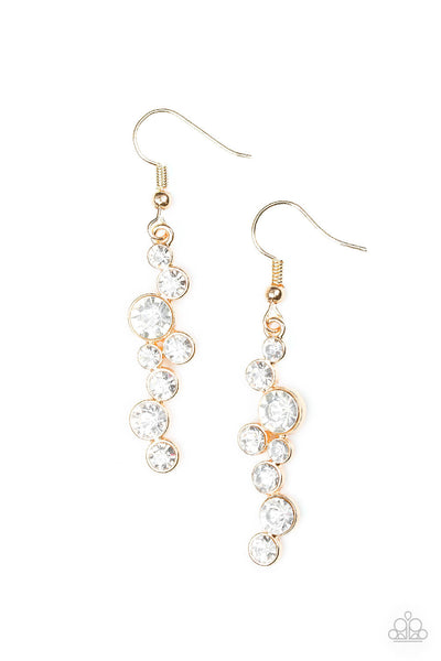 Paparazzi Milky Way Magnificence - Gold Earrings - Princess Glam Shop
