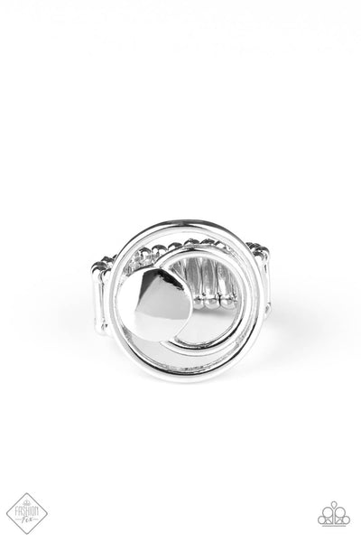 Paparazzi Edgy Eclipse - Silver Ring - Princess Glam Shop