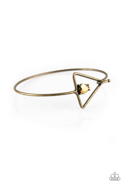 Paparazzi Gorgeously Giza Brass Bangle Bracelet - Princess Glam Shop