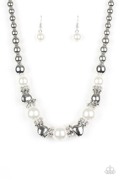 Paparazzi Hollywood HAUTE Spot - White Necklace Set - Princess Glam Shop