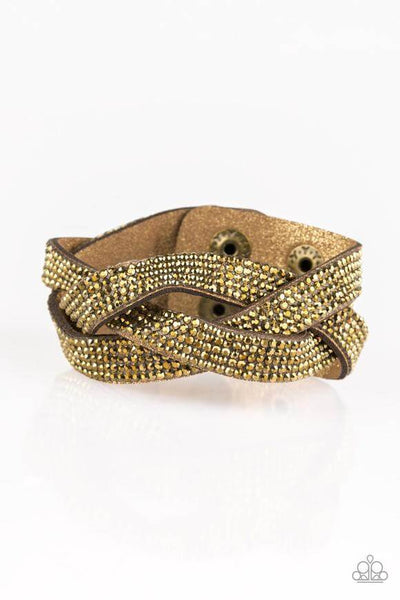Paparazzi Nice Girls Finish Last - Brass Snap Bracelet - Princess Glam Shop