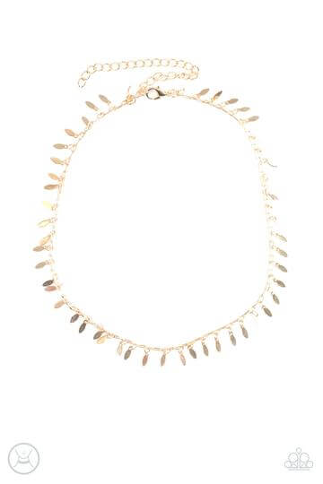 Paparazzi PURR-fect Ten - Gold Dainty Choker Necklace Set - Princess Glam Shop